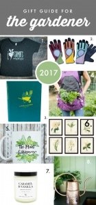 2017 Gift guide for gardeners numbered