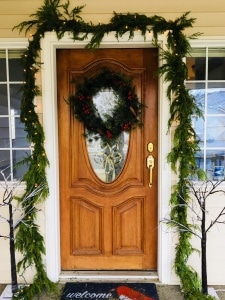 Trader Joes garland around door